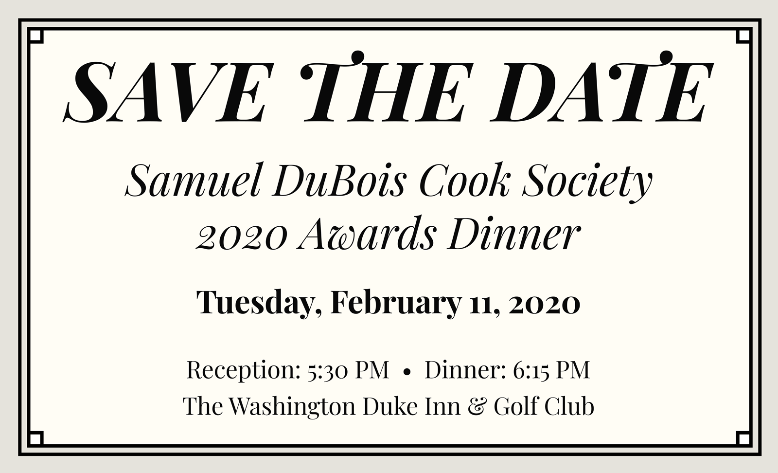 15 PM | The Washington Duke Inn & Golf Club