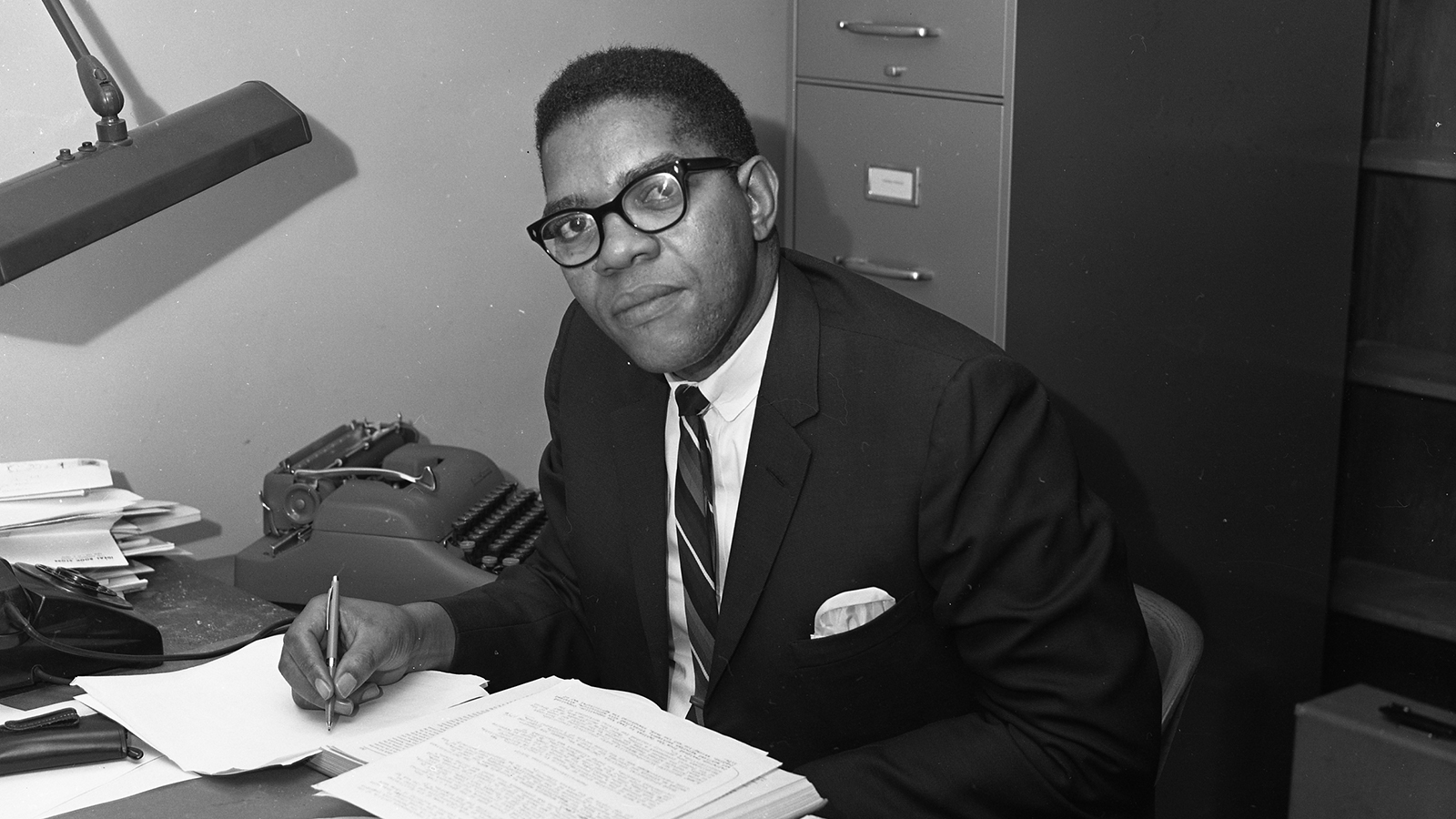 Image of Dr. Samuel DuBois Cook as a young professor in the 1960s.