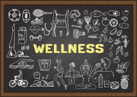 wellness chalkboard